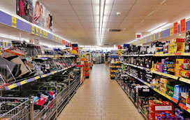 Security fog system for supermarkets