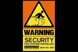 warning security fog system